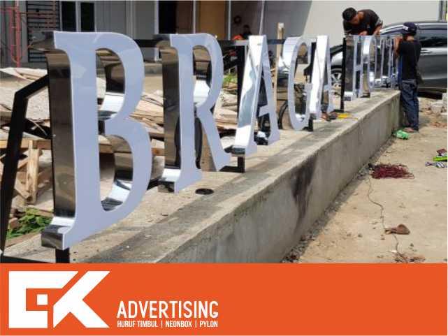 jasa pembuatan huruf timbul acrylic stainless purwokerto
